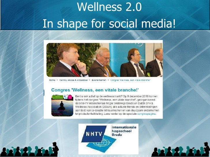 Wellness 2.0 In shape for social media!