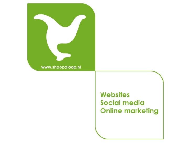 Social mediaIs een verzamelbegrip voor online platformen waar de gebruikers, met geen of    weinig tussenkomst van een pro...