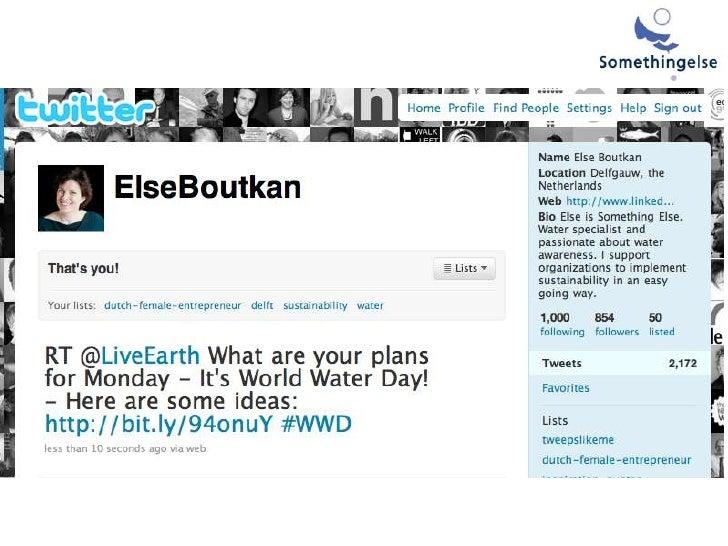 Socialmedia wereldwaterdag 100323