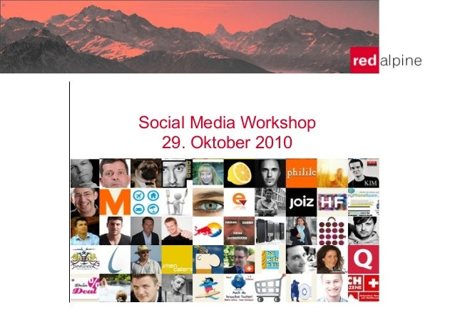 Social Media Workshop 29. Oktober 2010