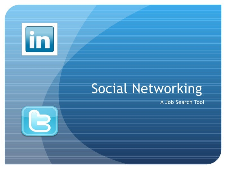 Social Networking A Job Search Tool