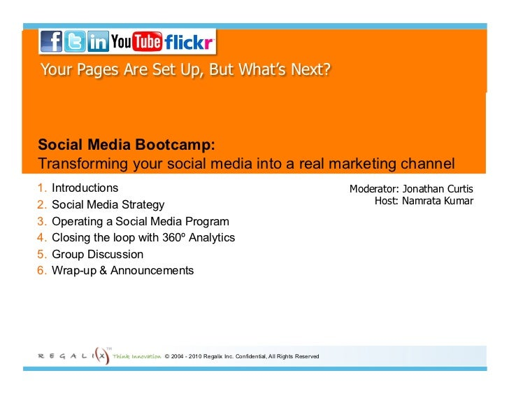 Your Pages Are Set Up, But What's Next?    Social Media Bootcamp: Transforming your social media into a real marketing cha...