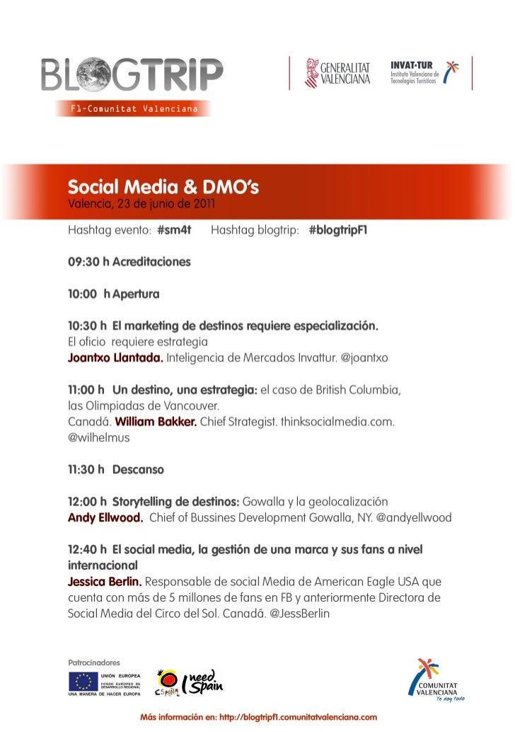 Social Media y Destinos #sm4t Valencia