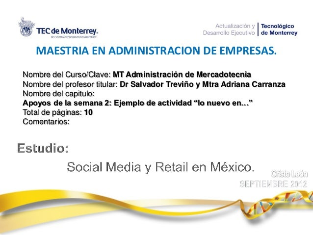 Social media y el retail en mexico