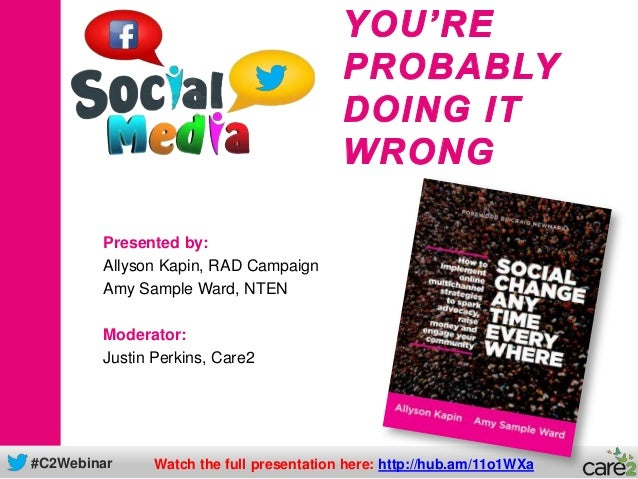 Social Media: You're Probably Doing It Wrong
