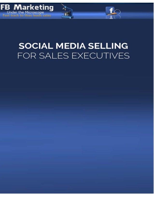 Social media selling for sales executives