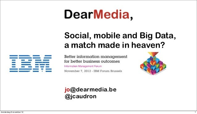 Social, mobile and big data