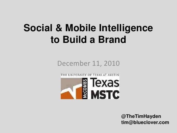 Social & Mobile Intelligence