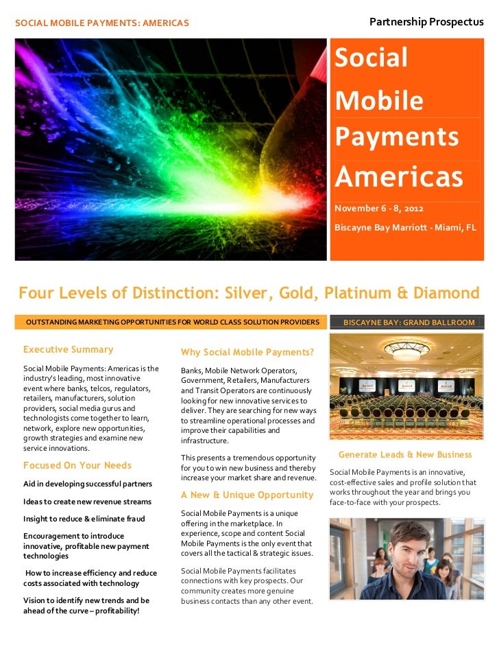 Social Mobile Payments: Americas - Sponsorship Opportunities