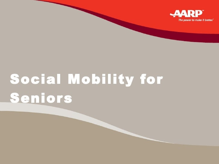 Social Mobility for Seniors