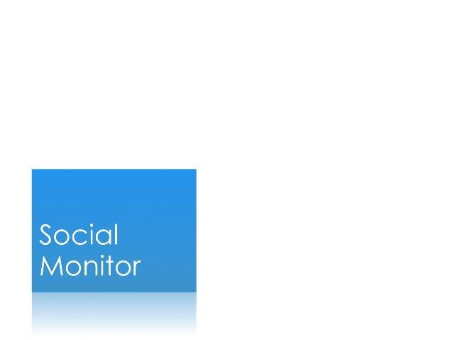 Social TV Analytics Análisis de Redes Sociales para Medios Social Monitor