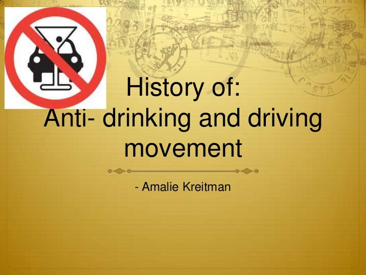 History of:Anti- drinking and driving movement<br />- Amalie Kreitman <br />