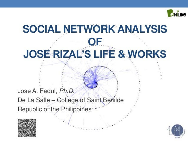SOCIAL NETWORK ANALYSIS OF JOSE RIZAL'S LIFE & WORKS Jose A. Fadul, Ph.D. De La Salle – College of Saint Benilde Republic ...