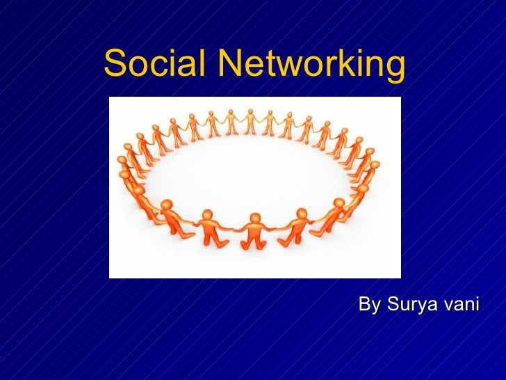 By Surya vani Social Networking