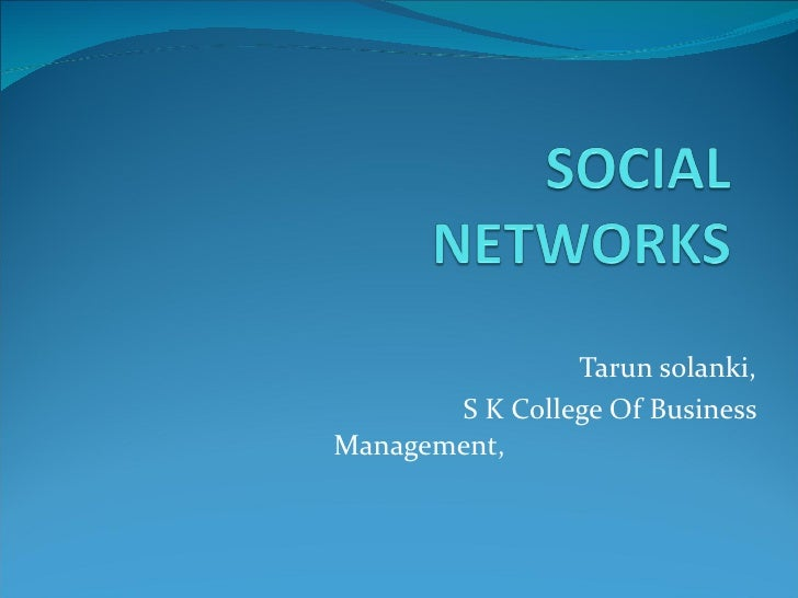 Tarun solanki, S K College Of Business Management,