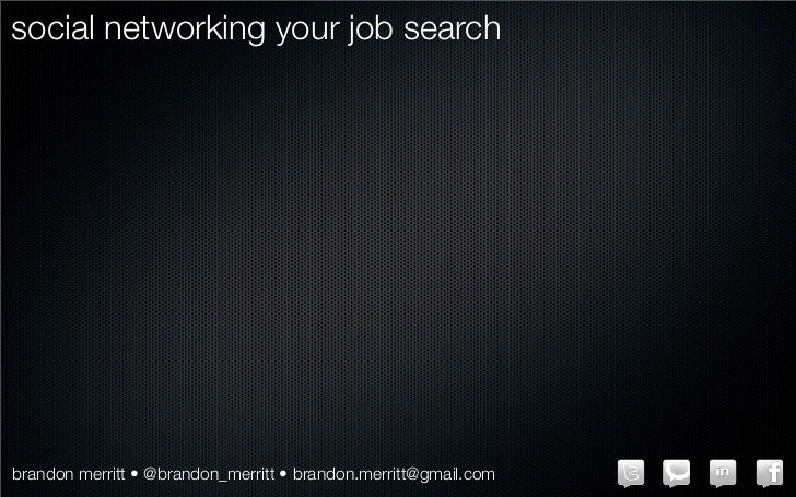 Social Networking Your Job Search