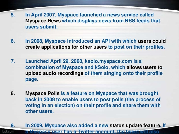 Pros and cons of MySpace?