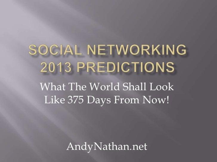 Social networking 2013 predictions