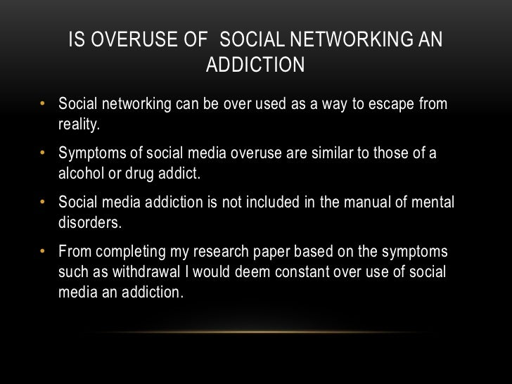Help with research paper social media addiction