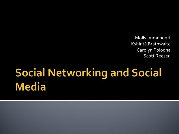 Social Networking And Social Media May 5 2009  Final V1