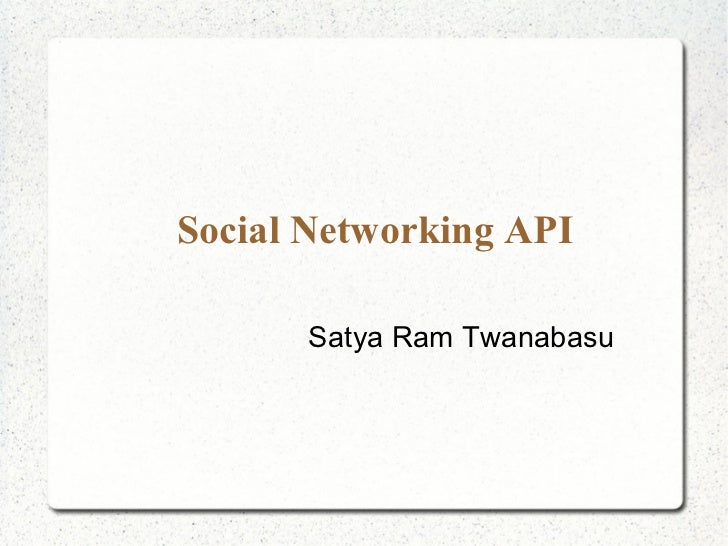 Social networking api for Android Developers