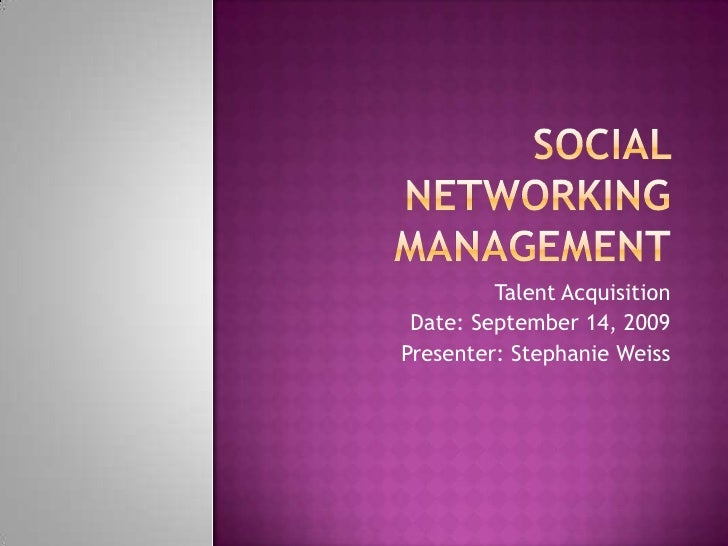 Social Networking Overview / Branding