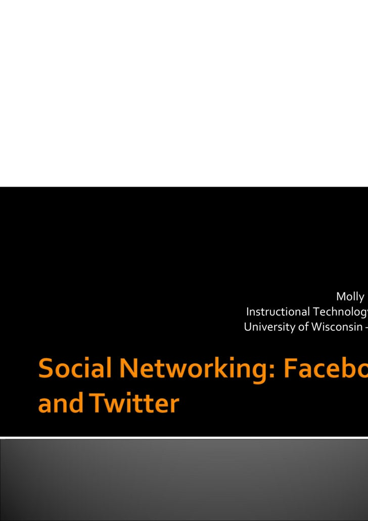 Social Networking Facebook And Twitter Oct2209