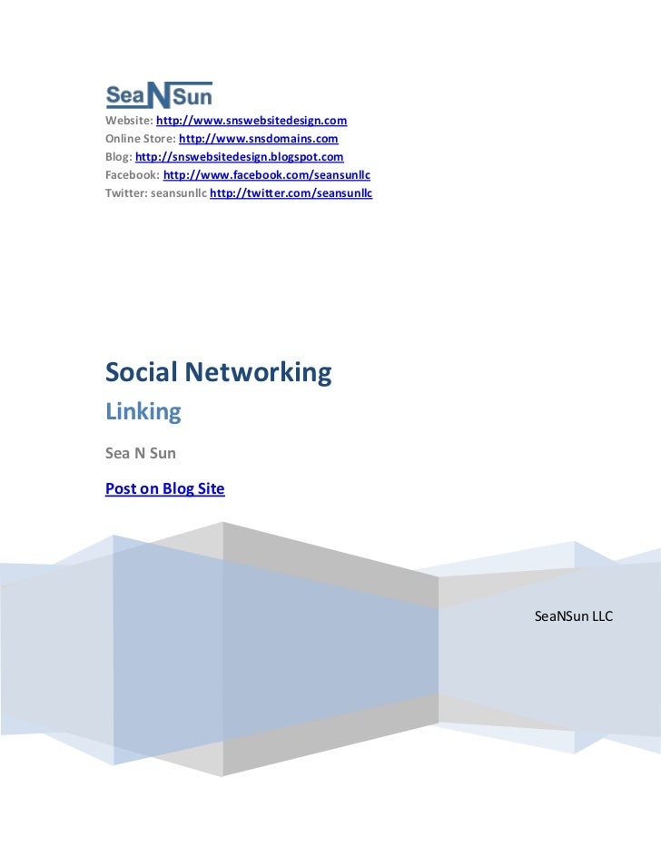 Social Networking and Linking