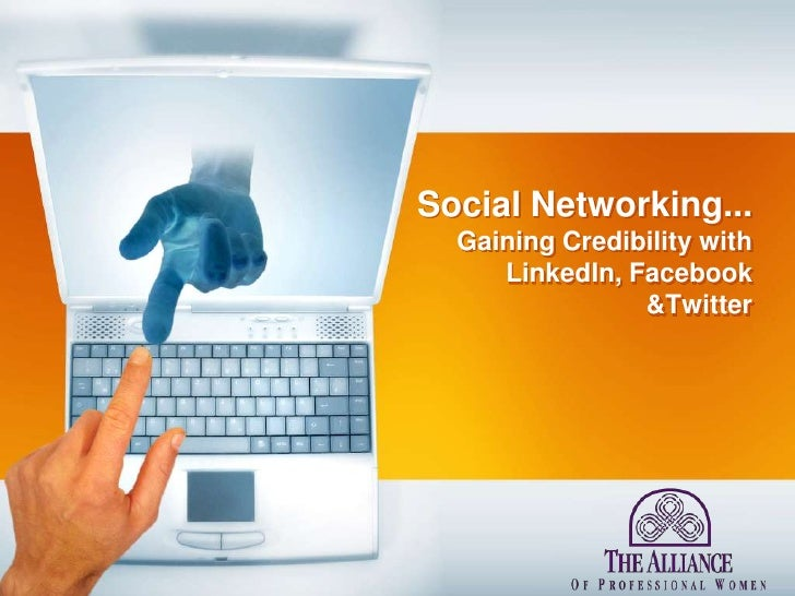 Alliance of Professional Women - Social Networking Presentation