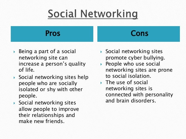 the pros and cons of the excessive use of social networks and mobile technologies