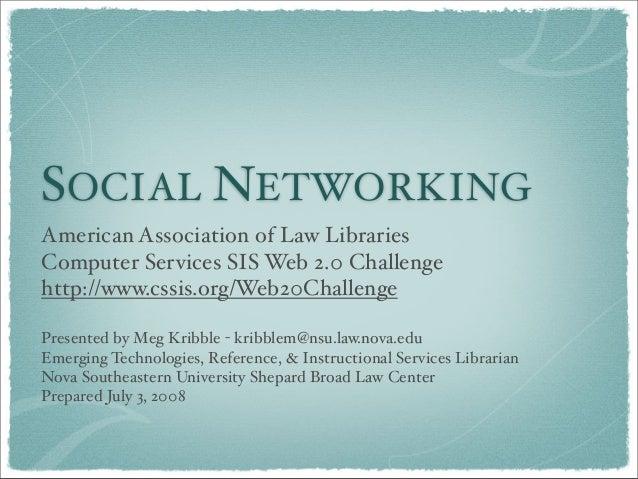 Social Networking Screencast