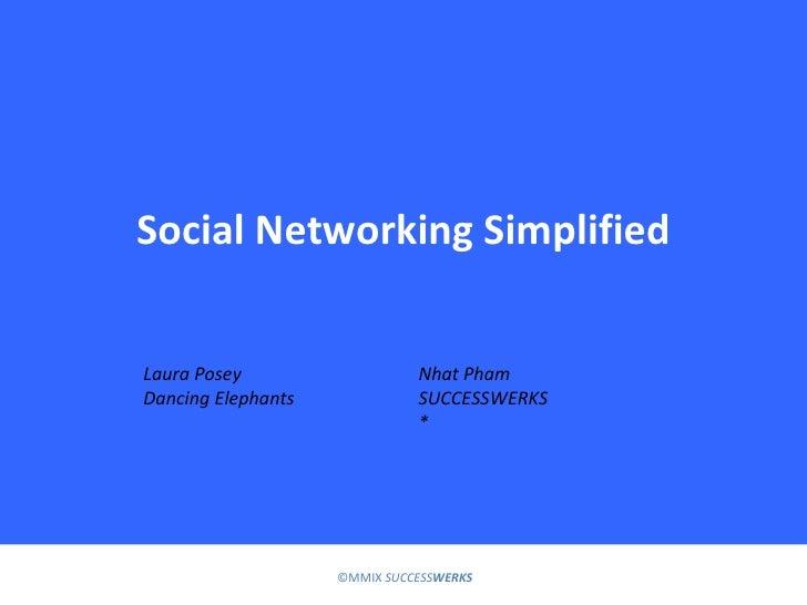 Social Networking Simplified Laura Posey Dancing Elephants Nhat Pham SUCCESSWERKS *