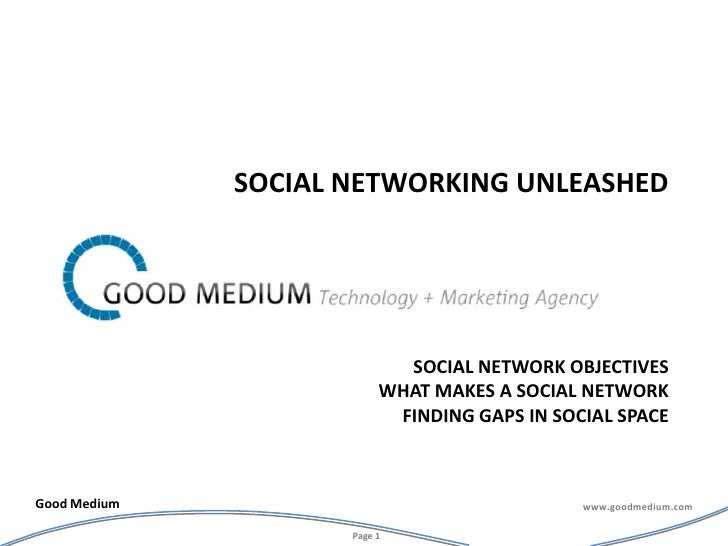 Social network Objectiveswhat makes a social networkfinding gaps in social space<br />Social Networking overview<br />