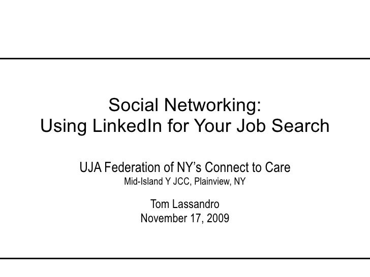 Social Networking Using Linked In For Job Search V9 00 091117