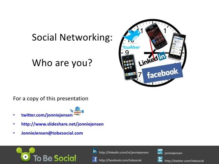 For a copy of this presentation <ul><li>twitter.com/jonniejensen </li></ul><ul><li>http://www.slideshare.net/jonniejensen ...
