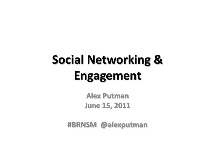 Social Network Recruiting and Engagement