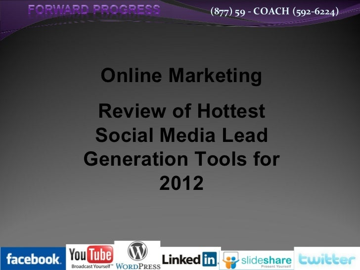 New Webinar: Review of Hottest Social Media Lead Generation Tools for 2012