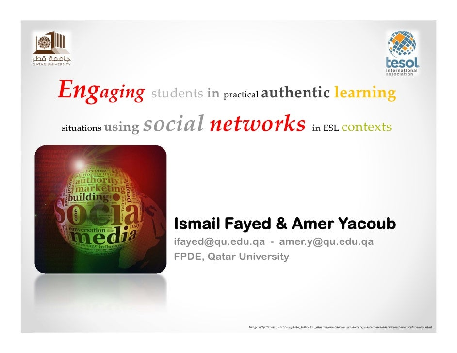 Engaging students in practical authentic learning situations using social networks in ESL contexts
