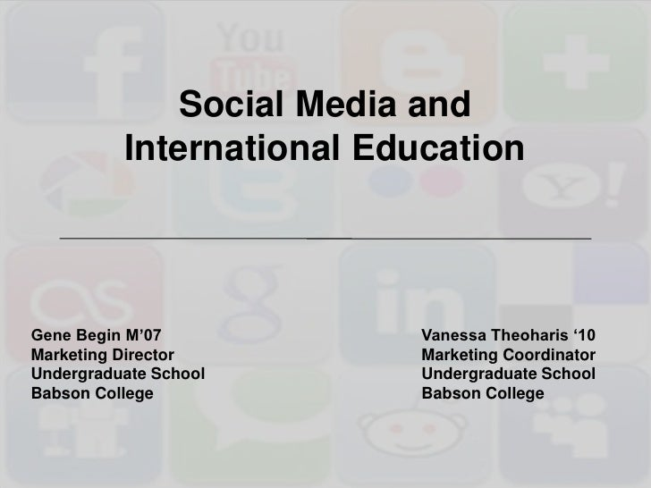 Social Networks and International Education