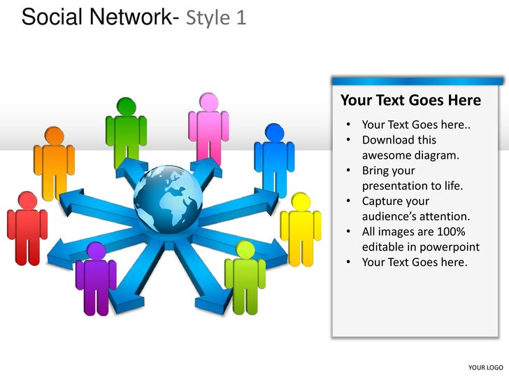 Social network style 1 powerpoint presentation templates
