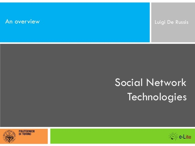 Social Network Technologies