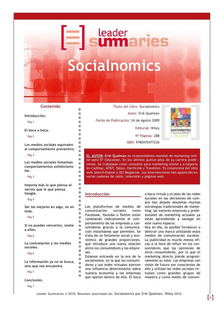 Socialnomics             Contenido                                    Título del Libro: Socialnomics                      ...