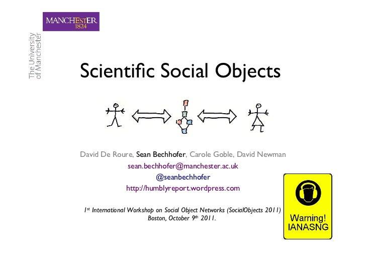 Scientific Social Objects