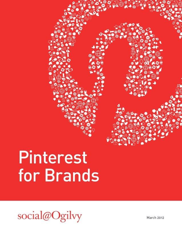 Pinterestfor Brands             March 2012