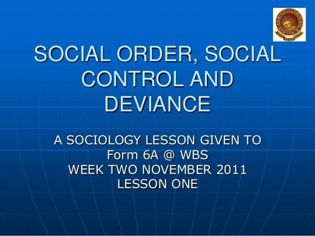 CAPE SOCIOLOGY Socialordersocialcontrolanddeviance