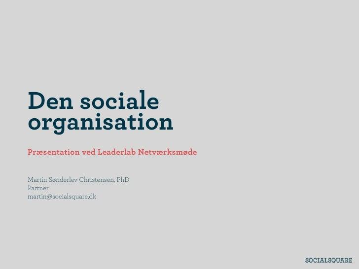Socialorganisation Leaderlab