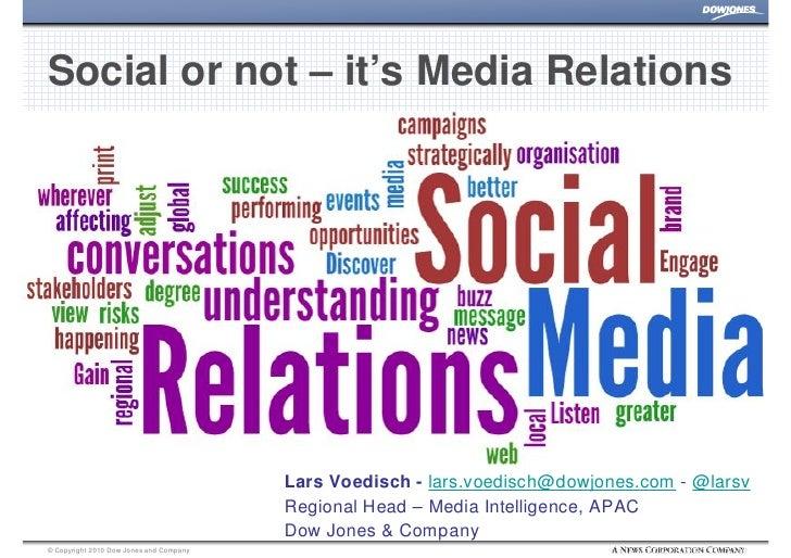 Social Or Not - It's Media Relations, Dow Jones 2010, Lars Voedisch