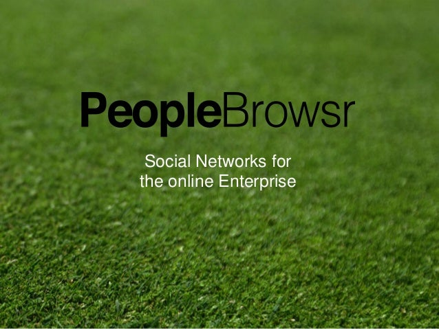 1 Social Networks for the online Enterprise