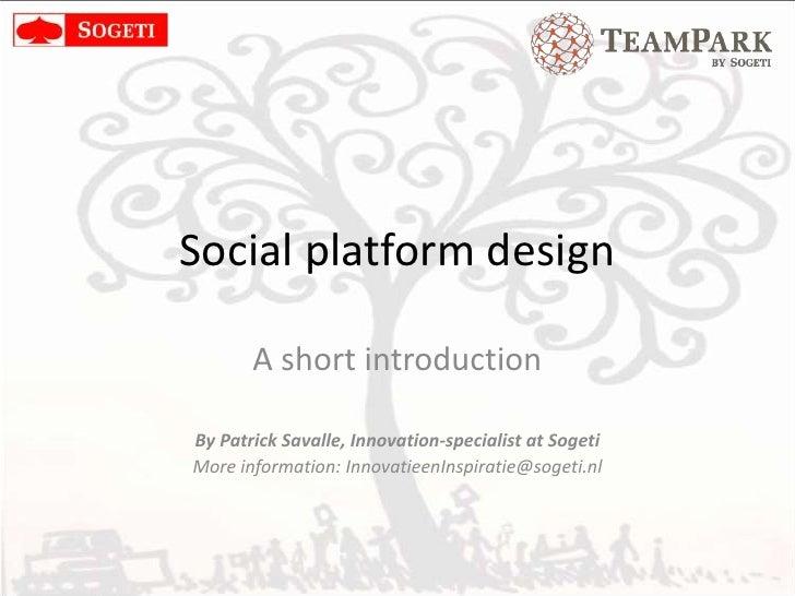 Social Platform Design