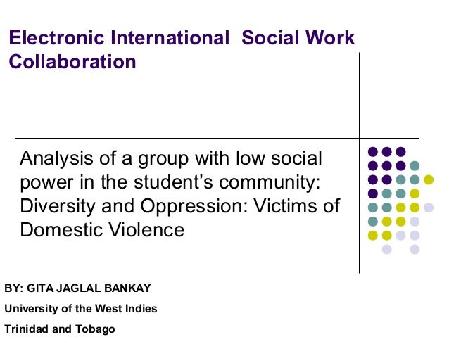 Electronic International Social Work Collaboration Analysis of a group with low social power in the student's community: D...